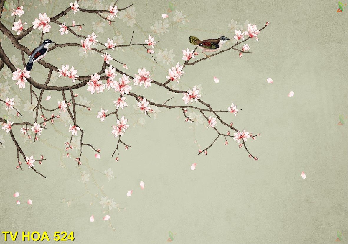 Tranh về hoa TV Hoa 524