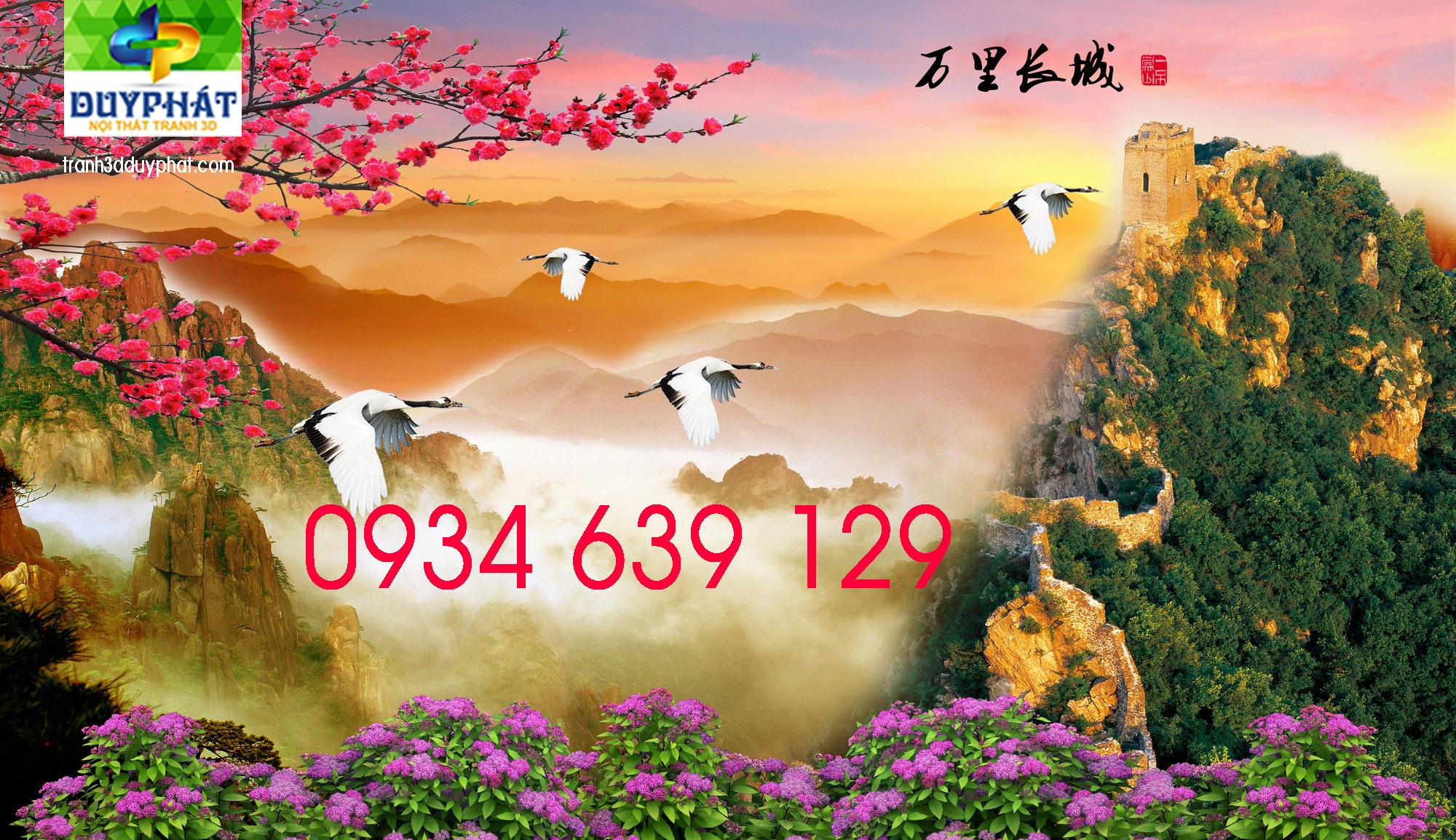 127 - Tranh thiên nhiên dán tường đẹp