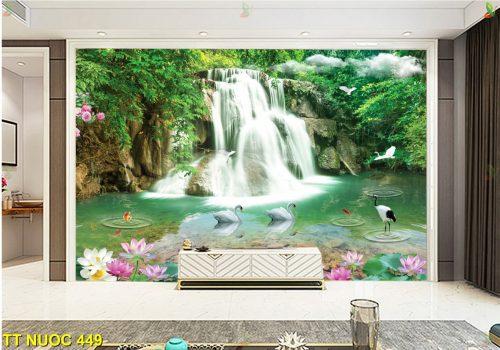 TT Nuoc 449 500x350 - Mẫu gạch 3D ốp tường phòng khách đẹp nhất hiện nay