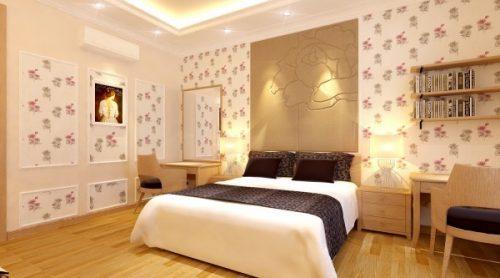 0 trao luu phoi mau noi that hien dai 500x278 - Trang trí phòng ngủ ấn tượng với giấy dán tường