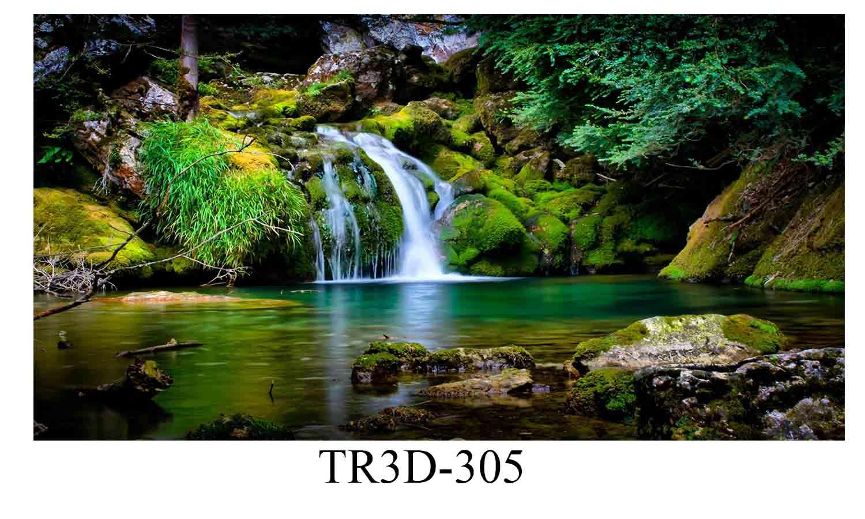 305 - Trang trí nhà bằng tranh dán tường thác nước tuyệt đẹp