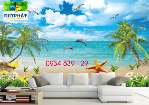 4 Özel 3d duvar kağıdı arka plan Yunus Beach View 3d duvar kağıdı oturma odası 3d stereoskopik duvar kağıdı 3d ücretsiz 13363 500x352 - Tranh dán tường 3D
