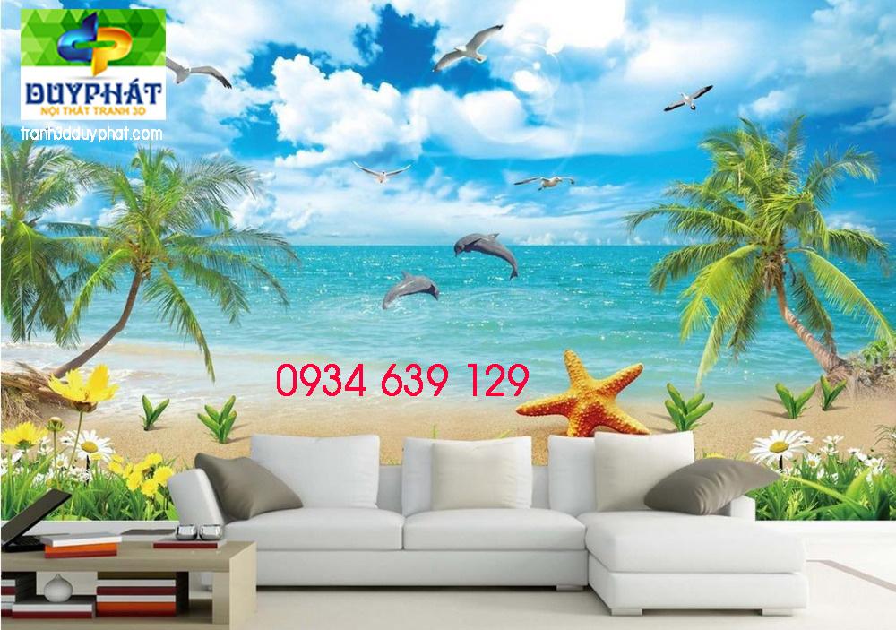 4 Özel 3d duvar kağıdı arka plan Yunus Beach View 3d duvar kağıdı oturma odası 3d stereoskopik duvar kağıdı 3d ücretsiz 13363 - Tranh phong thủy TP Thuy 298