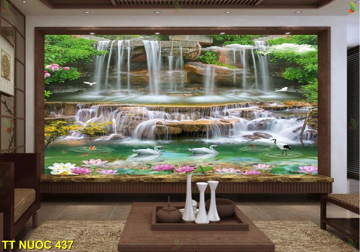TT Nuoc 437 1 1 - Mẫu tranh dán tường 3D đẹp nhất cho phòng khách