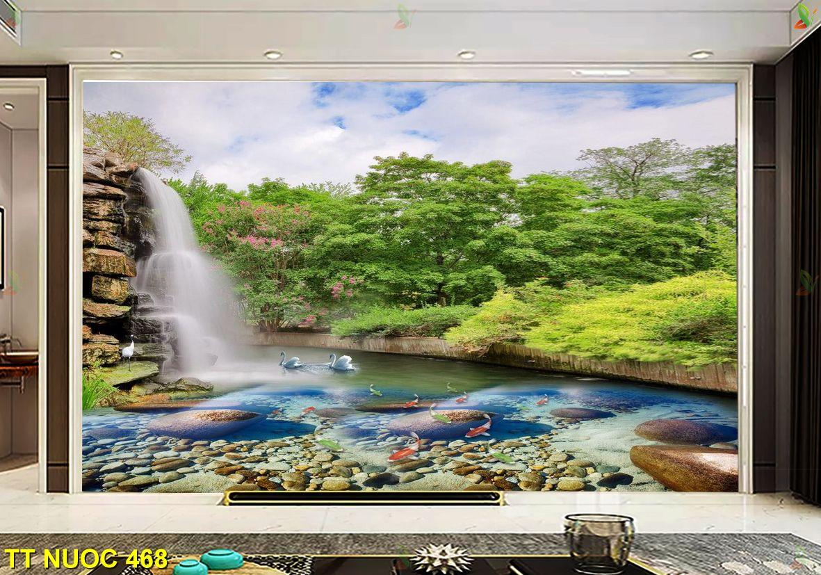 TT Nuoc 468 1 - Tranh phong cảnh đính đá đẹp, làm sống động không gian nội thất