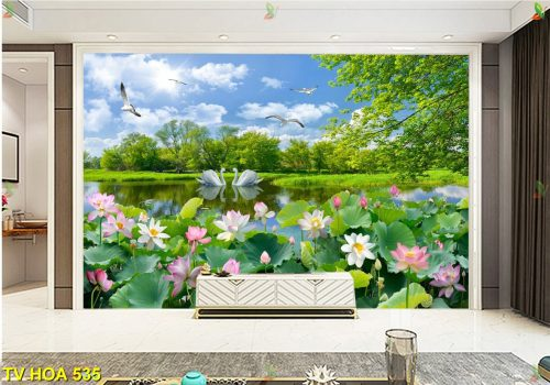 TV Hoa 535 500x350 - Đẹp mê mẩn với tranh dán tường độc đáo