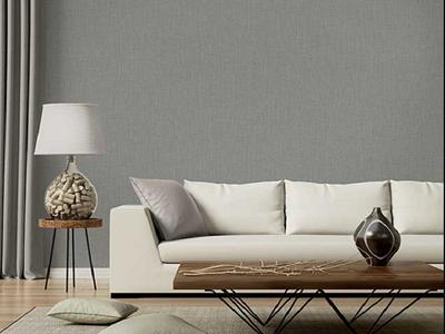 giay dan tuong mau ghi dep 4 - Các mẫu giấy dán tường phù hợp với phòng khách hiện nay