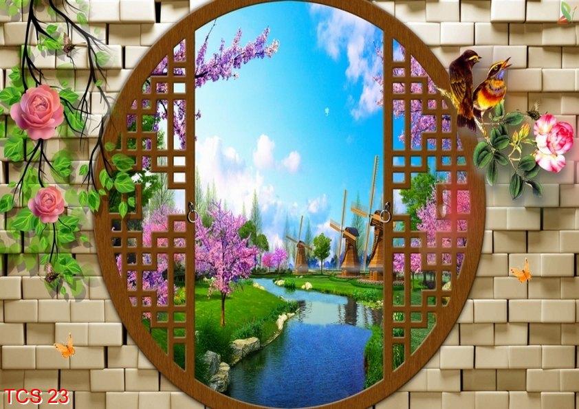 TCS 23 - Tranh treo tường phòng ngủ đẹp hợp phongthủy