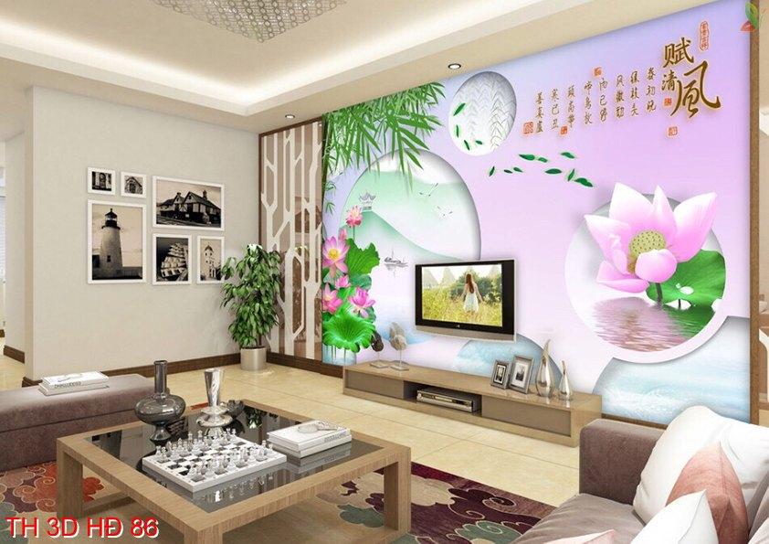 TH 3D HÐ 86 - Tranh dán tường 3D Hàn Quốc
