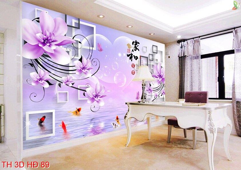 TH 3D HÐ 89 1 - Mẫu tranh dán tường 3D đẹp nhất cho phòng khách