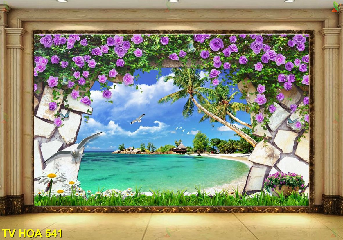 TV Hoa 541 - Tranh gạch đẹp như nào cho nhà của bạn