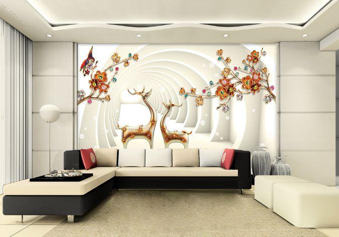 tranh dan tuong 3d phong khach 10 - Tranh Dán Tường 3D Phòng Khách-10