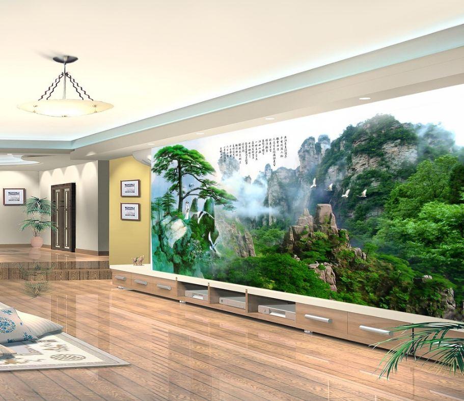 tranh dan tuong 3d phong khach 6 - Tranh Dán Tường 3D Phòng Khách-06