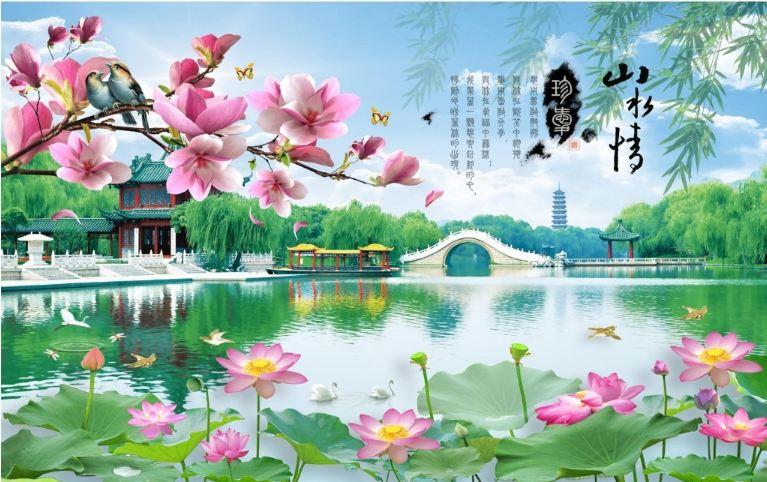 tranh dan tuong 3d phong khach 9 - Tranh Dán Tường 3D Phòng Khách-09