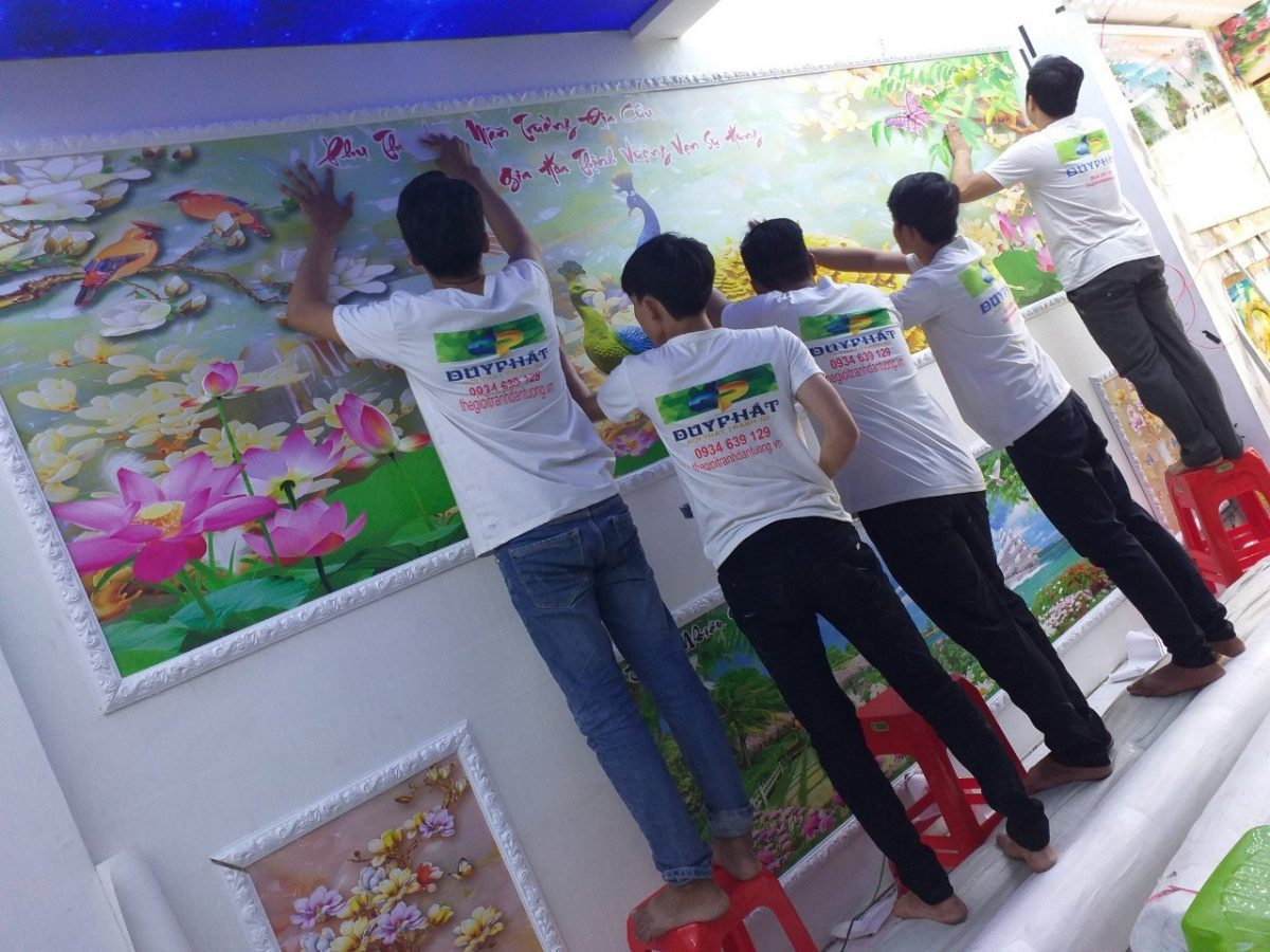 tranh gạch dán tường