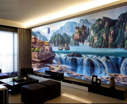 tranh 3 500x411 - Tranh dán tường độc đáo đầy nghệ thuật