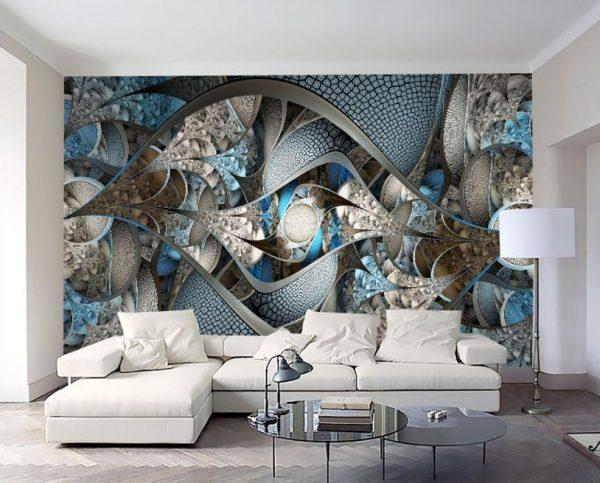 tranh dán tường 3 e1551951773847 - Không gian sống động và ấn tượng nhờ tranh dán tường