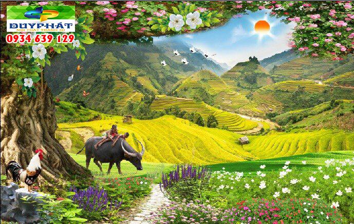 tranh doc quyen tranh 3d duy phat com 14 - Tranh 3d phong cảnh tạo phong cách riêng cho gia chủ