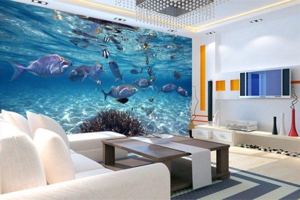 tranh1 e1552440887207 - Tư vấn chọn mẫu giấy dán tường dành cho phòng khách đẹp nhất hiện nay