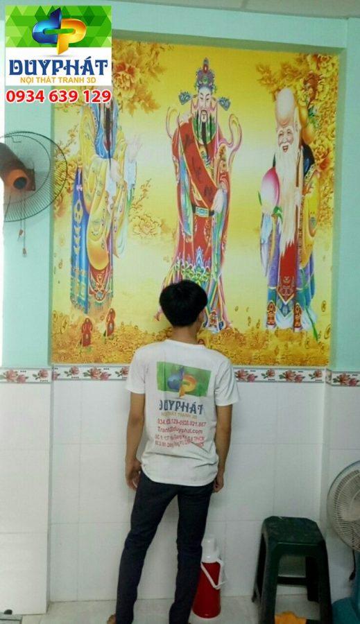 Thi công tranh dán tường nhà chị Tuyền quận Thủ Đức