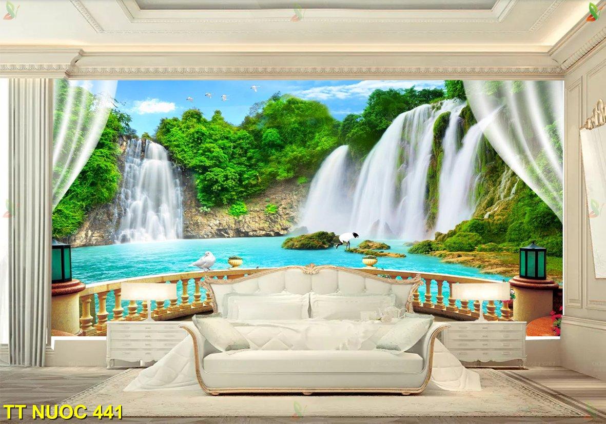 thac nc 3 - Treo tranh thác nước trong nhà cần lưu ý những gì?