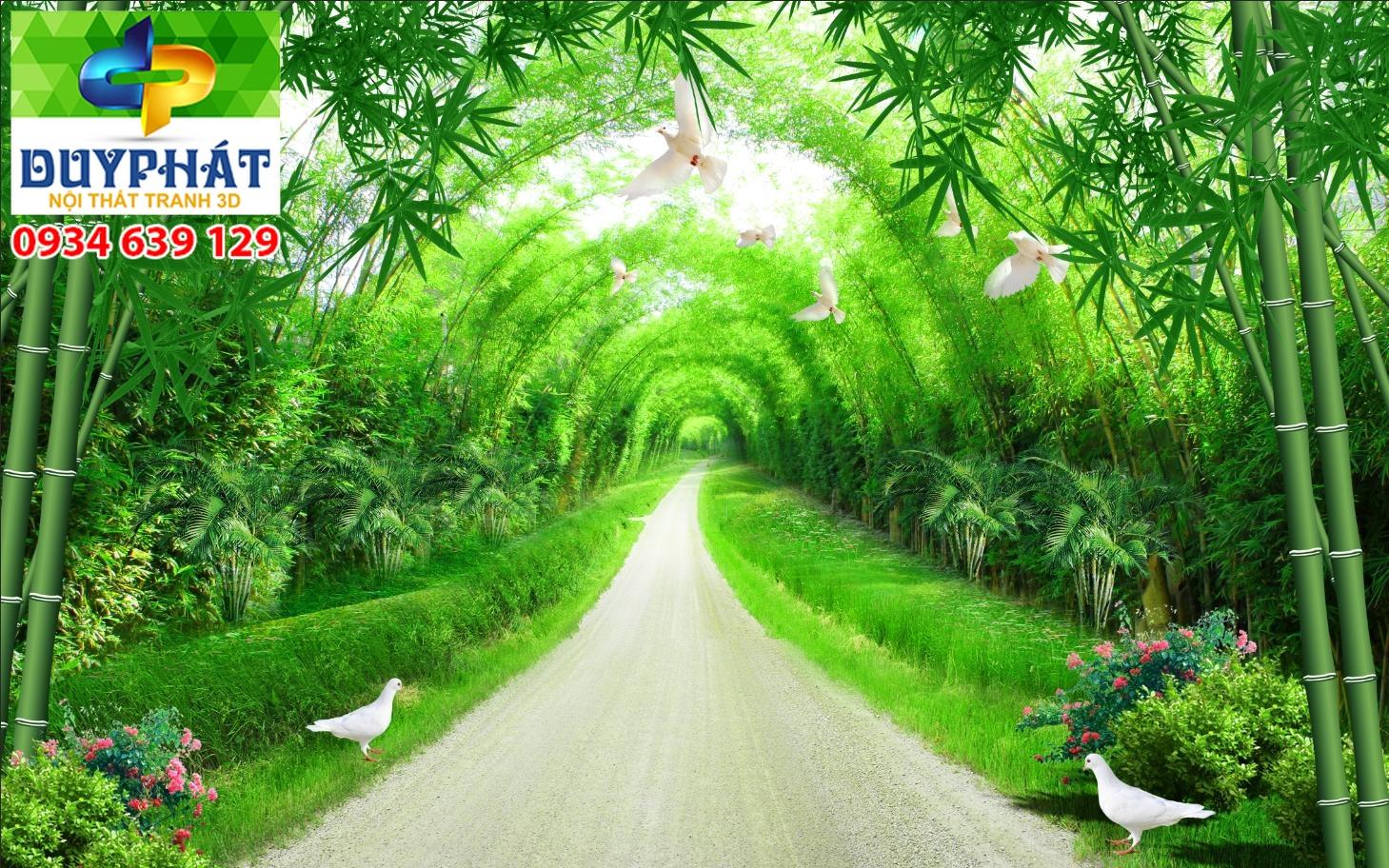 Tranh con đường TCĐ039 của tranh 3D Duy Phát