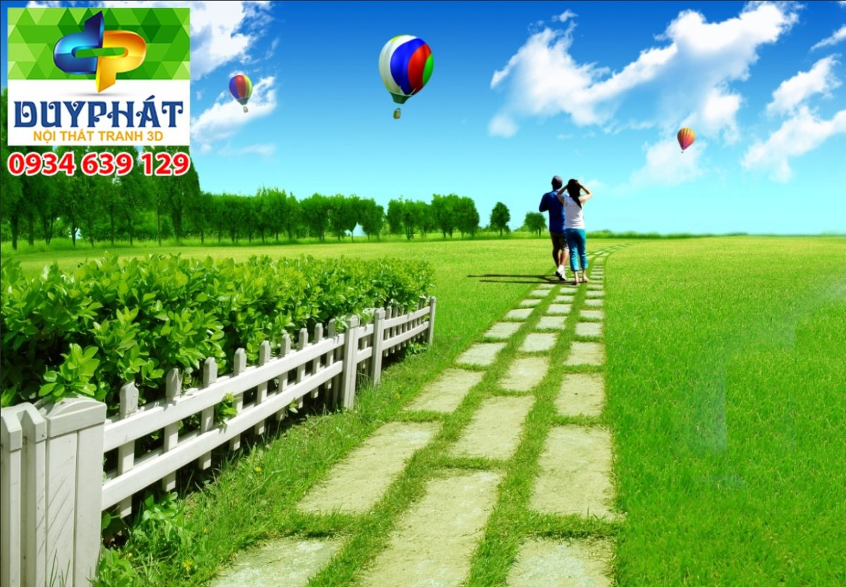 Tranh con đường TCĐ056 của tranh 3D Duy Phát
