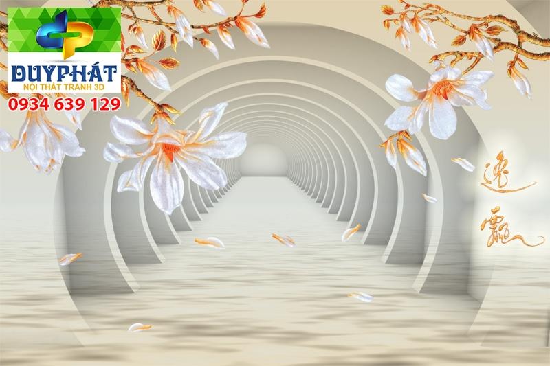 Tranh con đường TCĐ135 của tranh 3D Duy Phát