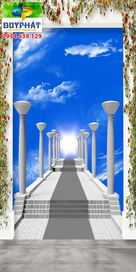 Tranh con đường TCĐ145 của tranh 3D Duy Phát