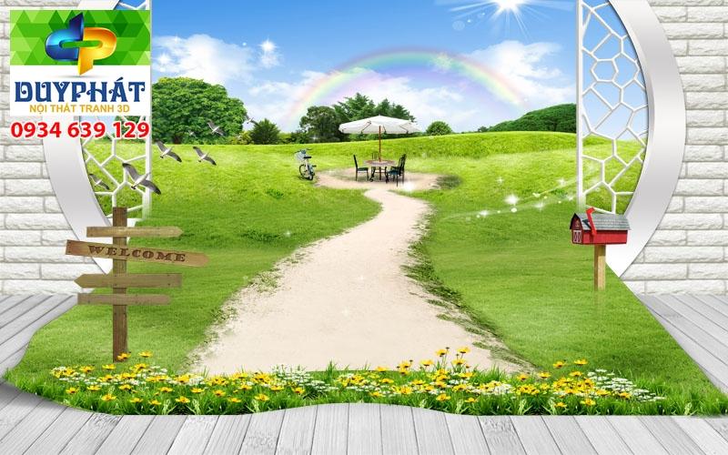 Tranh con đường TCĐ153 của tranh 3D Duy Phát