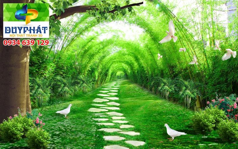Tranh con đường TCĐ155 của tranh 3D Duy Phát