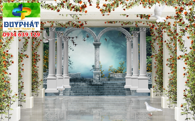 Tranh con đường TCĐ175 của tranh 3D Duy Phát