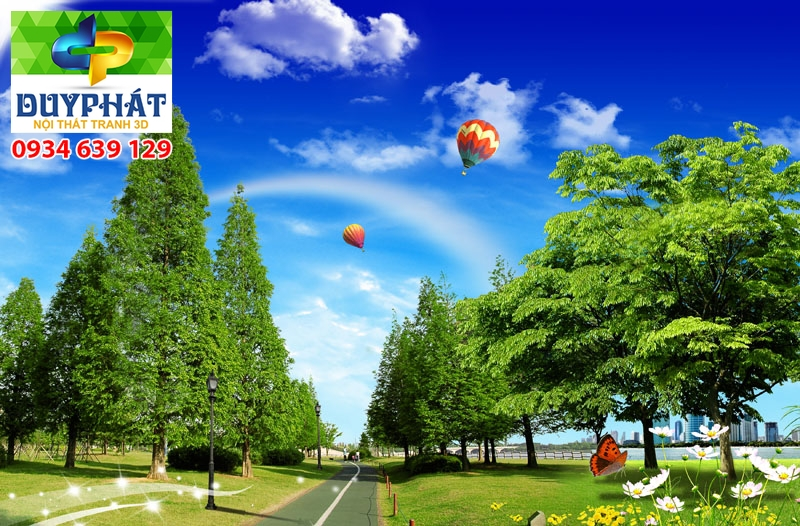Tranh con đường TCĐ264 của tranh 3D Duy Phát