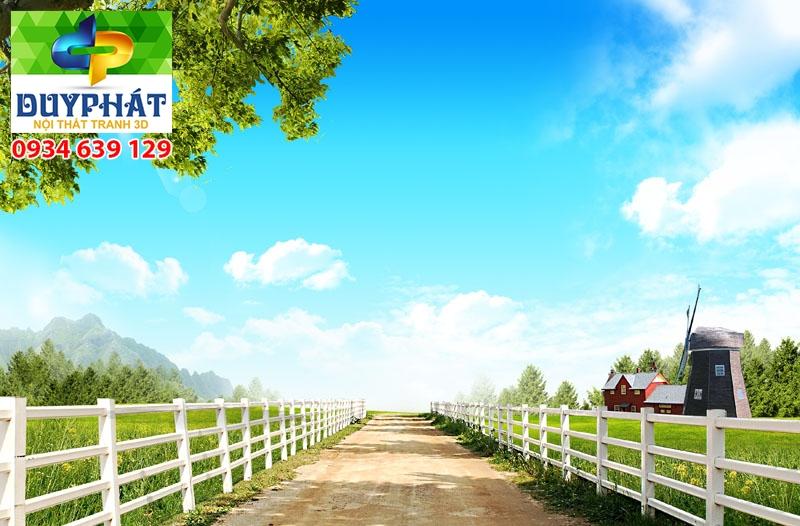 Tranh con đường TCĐ270 của tranh 3D Duy Phát