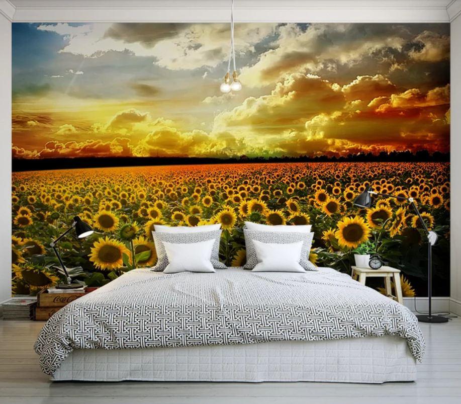 tranh dan tuong 4 - Tranh dán tường 3D cho phòng ngủ theo phong thủy