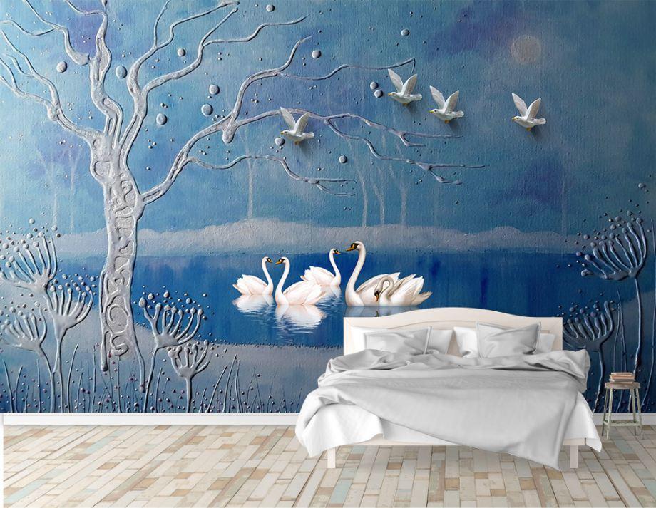 tranh dan tuong 5 1 - Tranh dán tường 3D cho phòng ngủ theo phong thủy