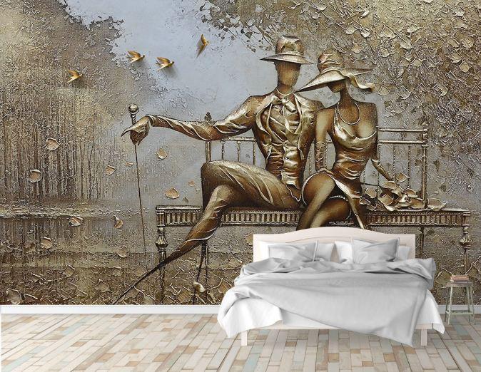 tranh dan tuong 6 - Tranh dán tường 3D cho phòng ngủ theo phong thủy