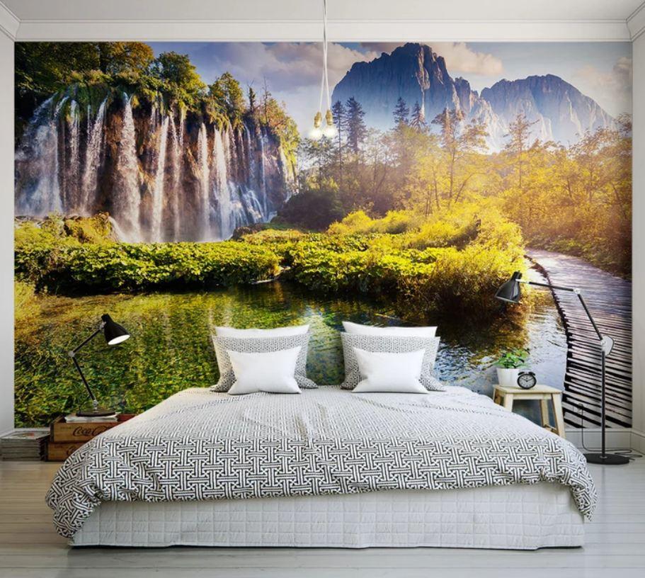 tranh dan tuong 7 - Tranh dán tường 3D cho phòng ngủ theo phong thủy