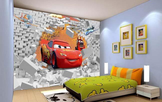 tranh dan tuong - Tranh dán tường 3D cho phòng ngủ theo phong thủy