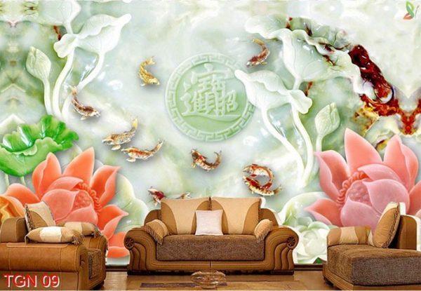 tranh giả ngọc 3d e1554371709267 - Tranh giả ngọc 3d kiệt tác trang trí cho phòng khách