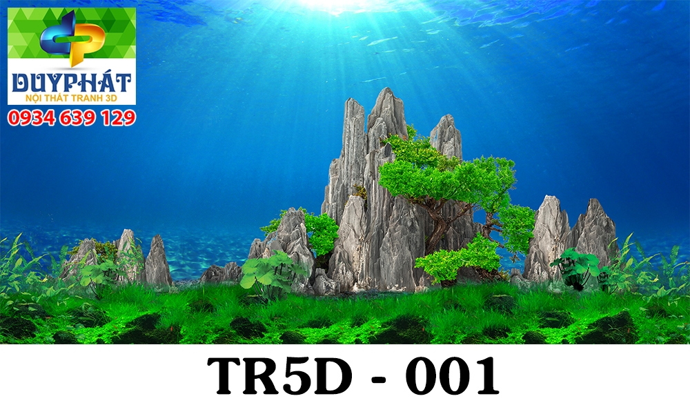 Tranh hồ cá THC364 đẹp cho nhà bạn