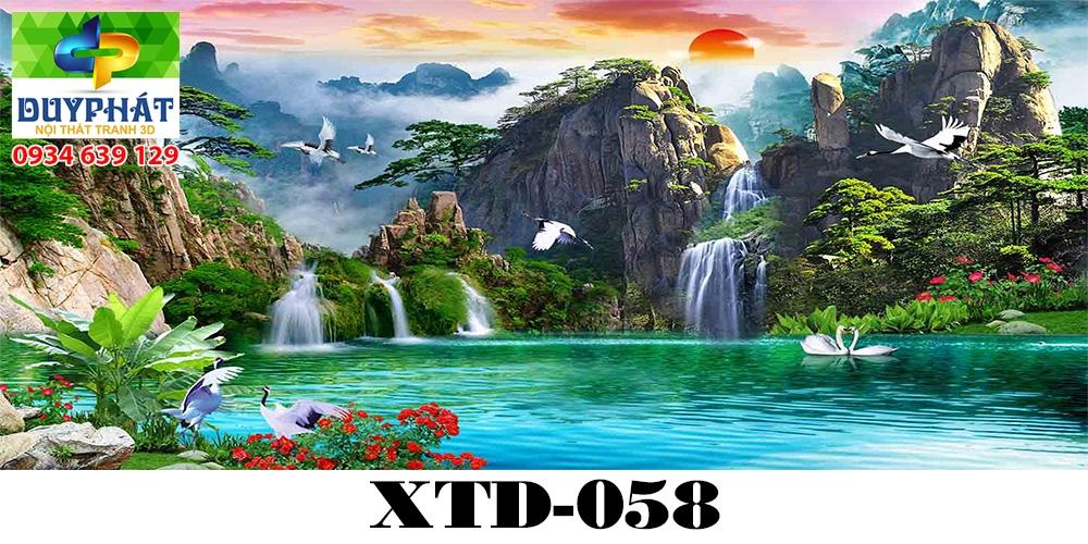 Tranh hồ cá THC685 đẹp cho nhà bạn