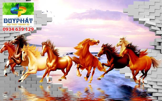 Tranh mã đáo thành công TMĐTC004 của tranh 3D Duy Phát