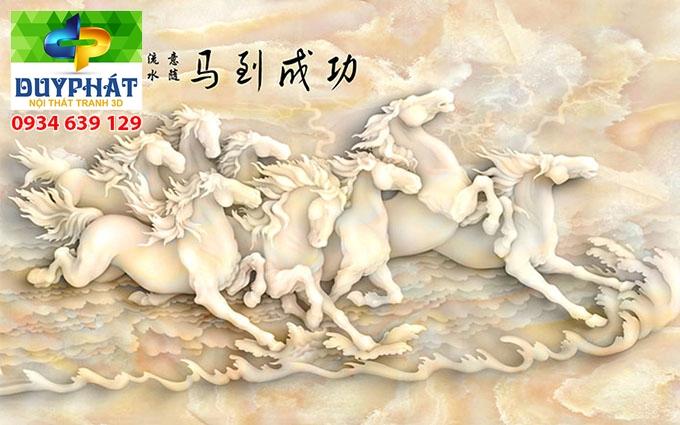 Tranh mã đáo thành công TMĐTC009 của tranh 3D Duy Phát