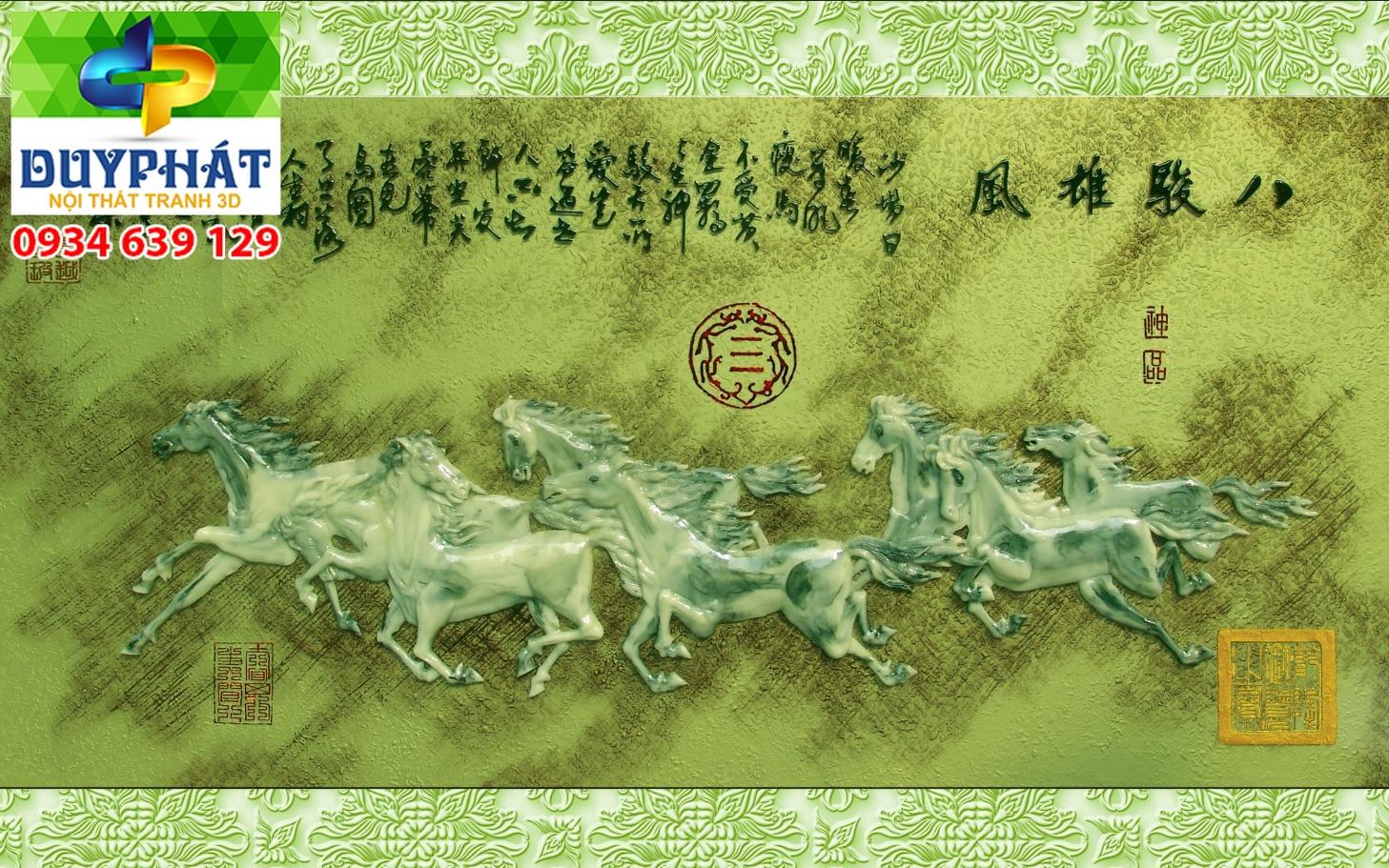 Tranh mã đáo thành công TMĐTC144 của tranh 3D Duy Phát