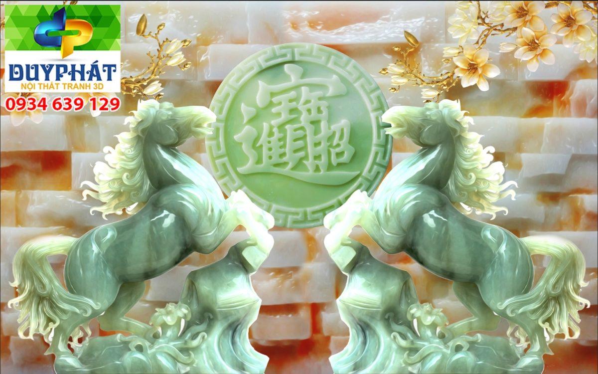 Tranh mã đáo thành công TMĐTC167 của tranh 3D Duy Phát