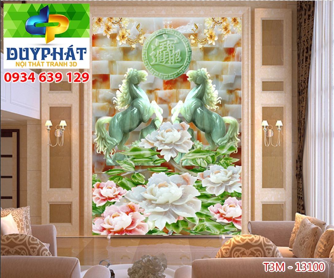 Tranh mã đáo thành công TMĐTC177 của tranh 3D Duy Phát