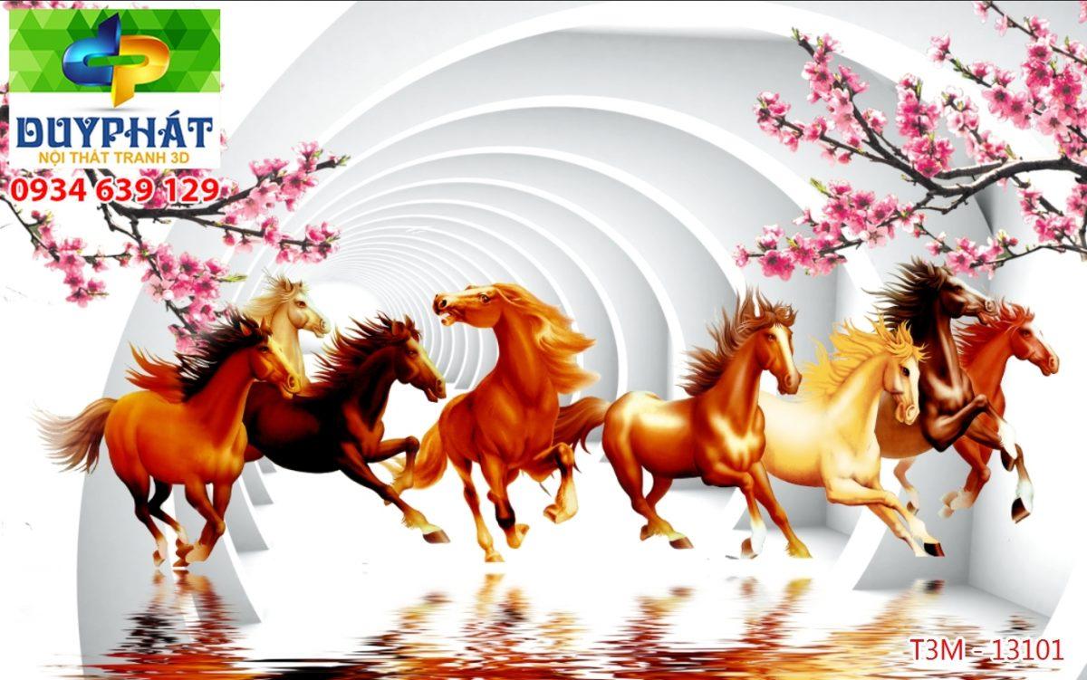 Tranh mã đáo thành công TMĐTC178 của tranh 3D Duy Phát