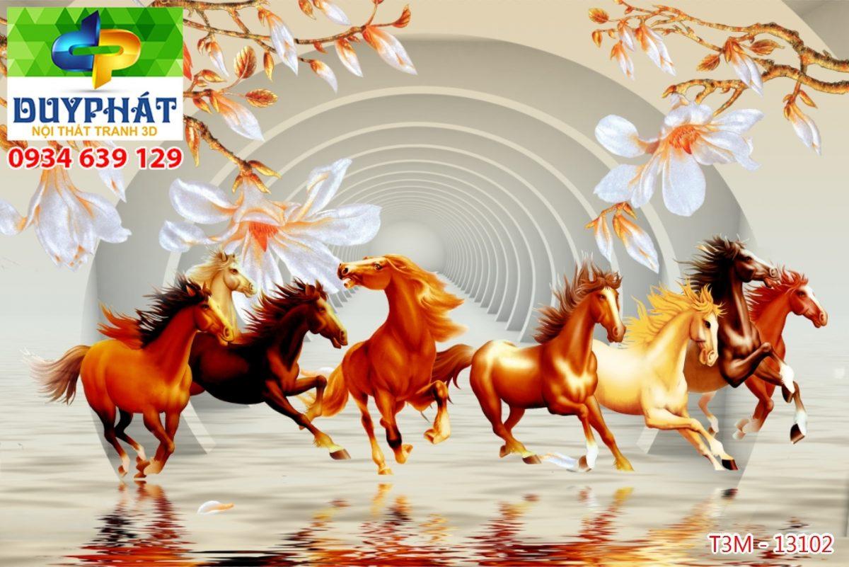 Tranh mã đáo thành công TMĐTC179 của tranh 3D Duy Phát
