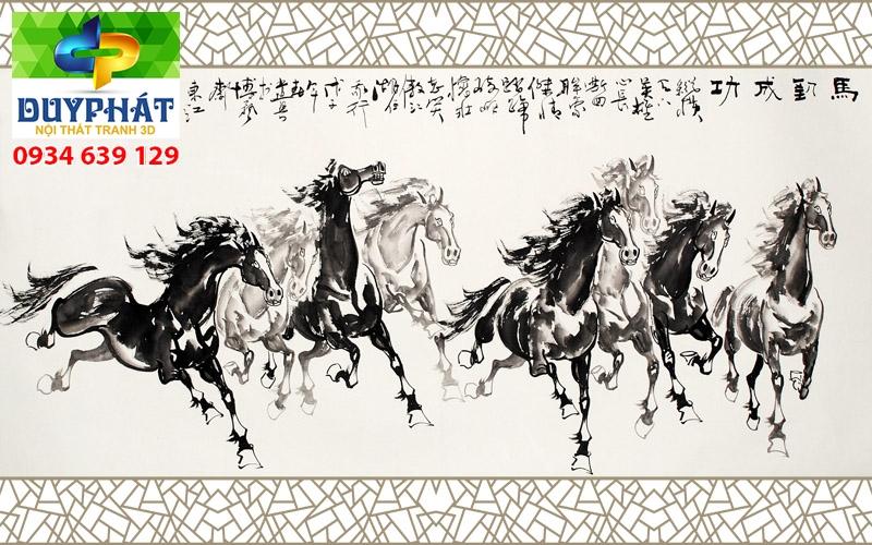 Tranh mã đáo thành công TMĐTC189 của tranh 3D Duy Phát